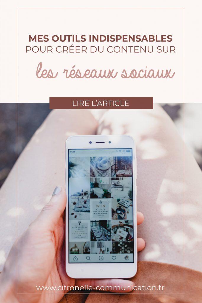 téléphone instagram réseaux sociaux