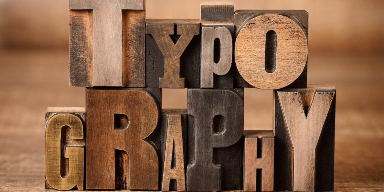 différentes typographies